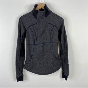 Lululemon Jacket Base Runner Half Zip Herringbone